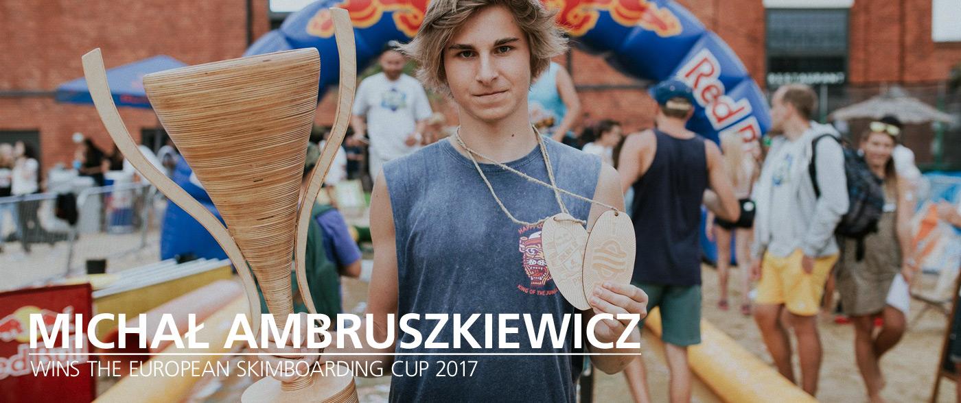 Michał Ambruszkiewicz wygrywa European Skimboarding Cup