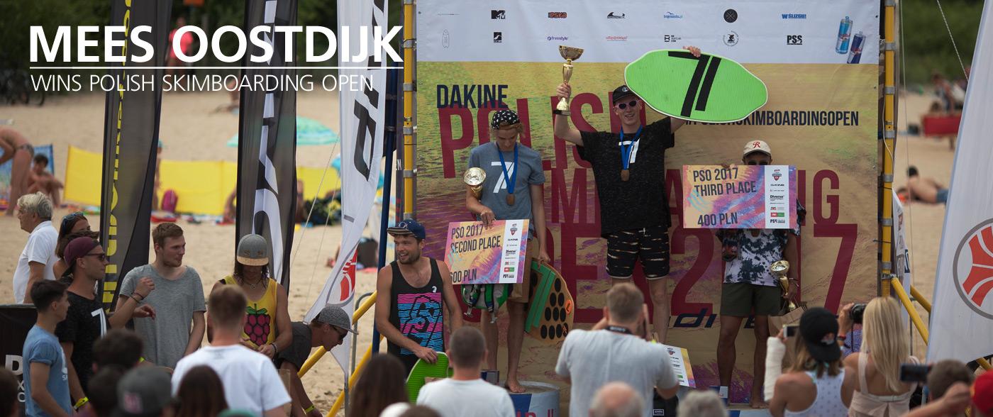 Mees Oostdijk wygrywa Polish Skimboarding Open